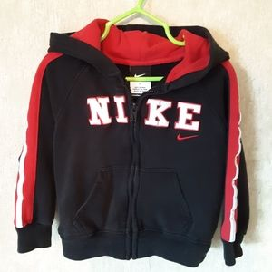 Nike black and red zip up hoodie jacket size 3T
